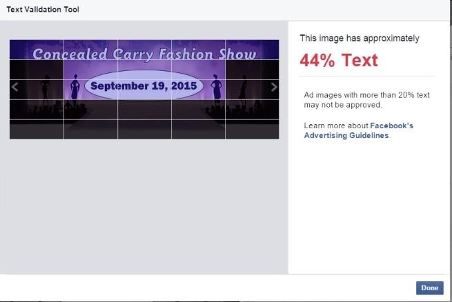 Как обойти запрет на 20% текста на изображении в Facebook