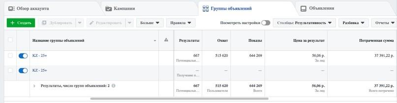 КЕЙС: льем с таргета Facebook и Instagram на Суставитин (813.230)