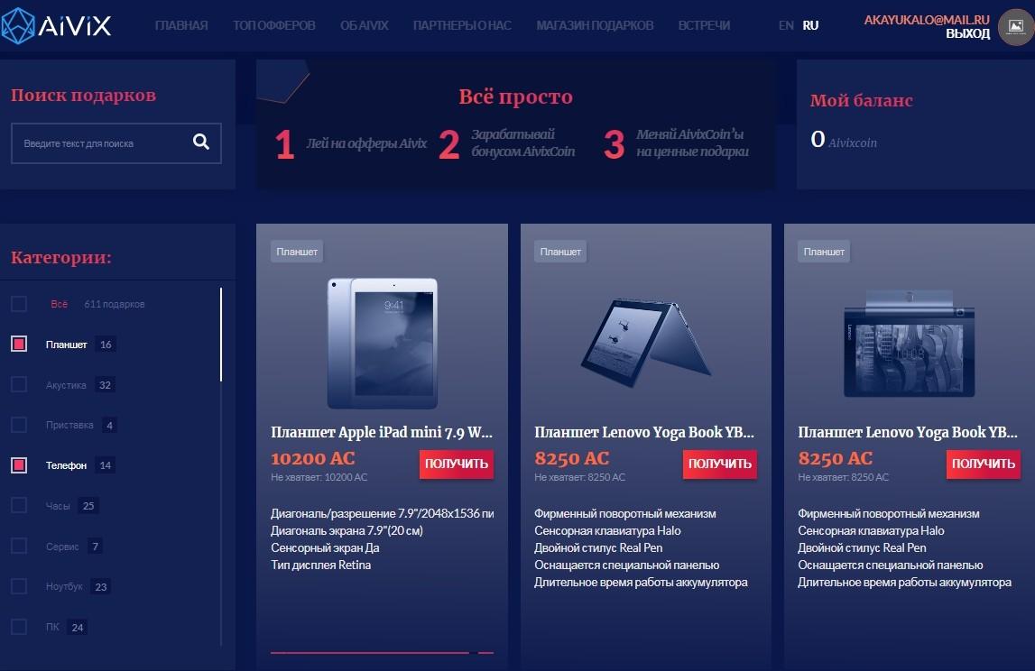Обзор Aivix - CPA-сети по крипте с авторскими офферами